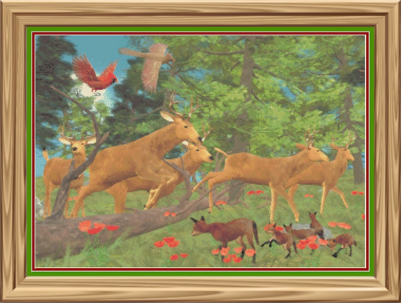 Running of the Deer Forest Life Woodland Creatures Counted image 1