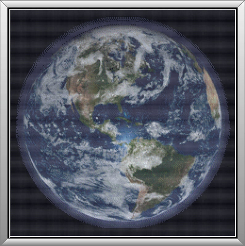 A View of the Earth Planet Earth in Space Big Blue Planet image 0