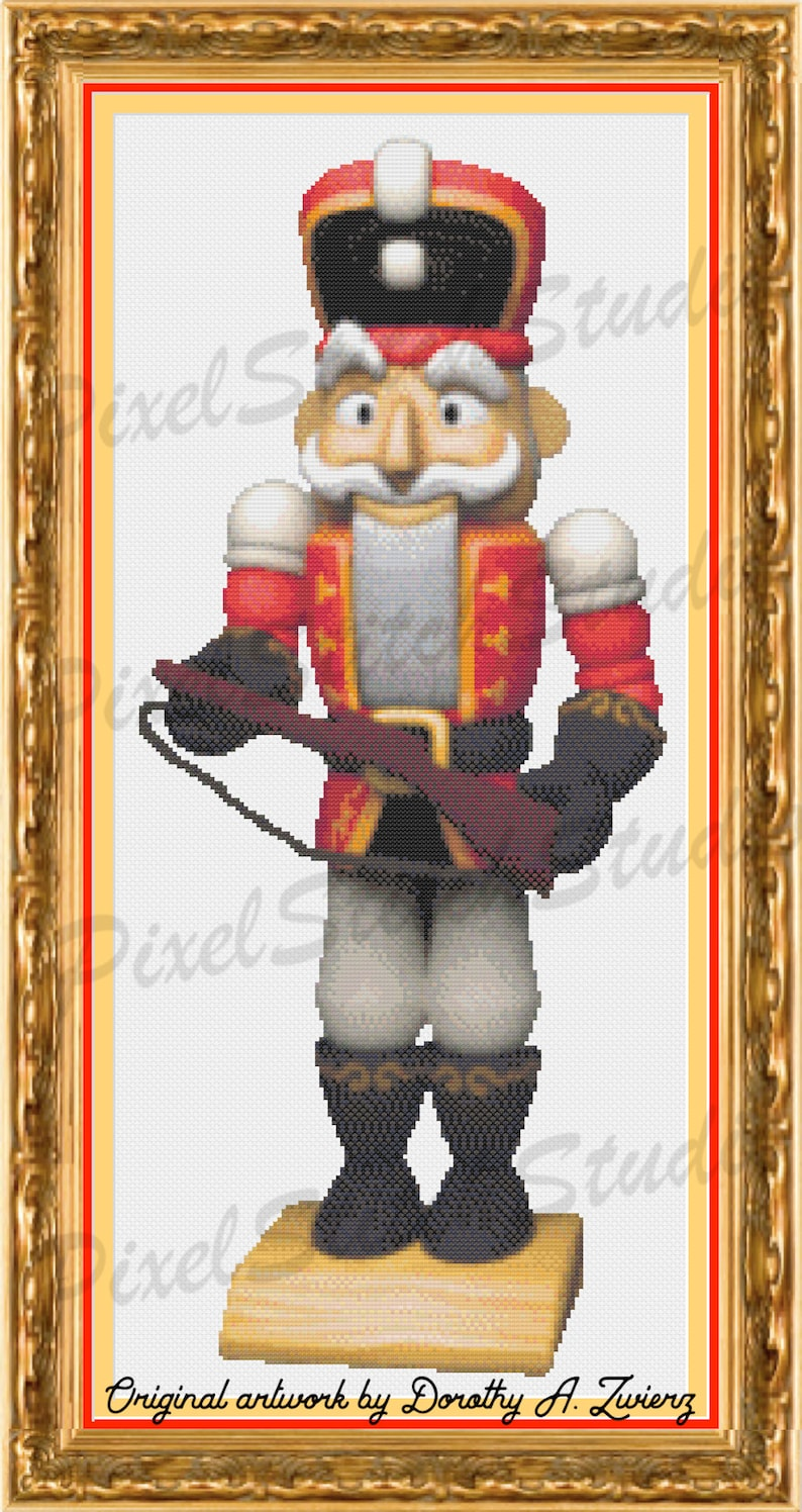 Cute Red Nutcracker Wooden Military Christmas Doll Holiday image 0