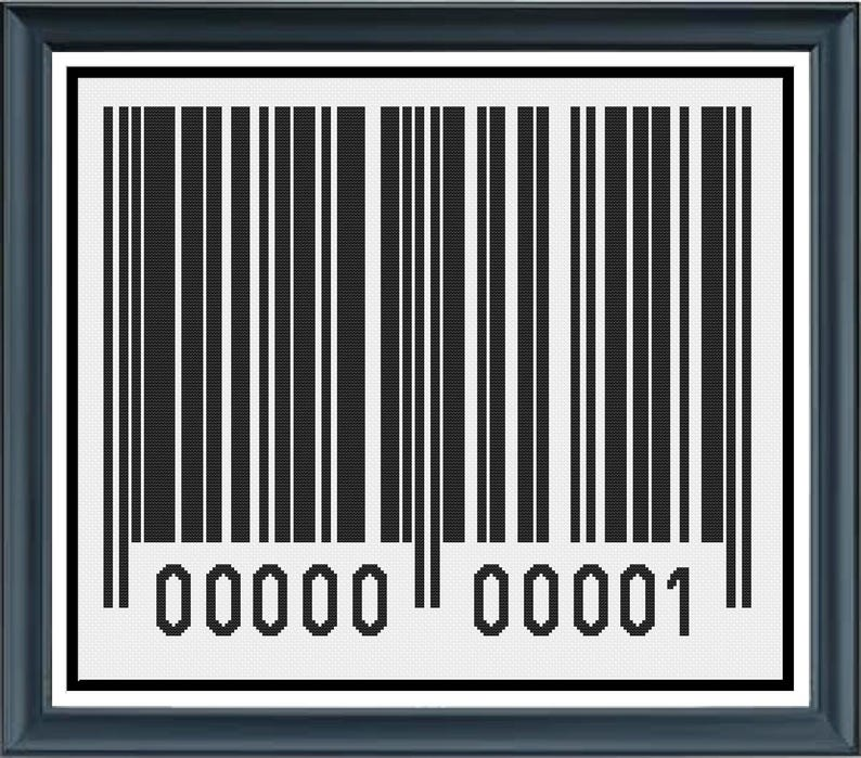 Generic Barcode Black and White Scan Bar Uniquely Plain image 0