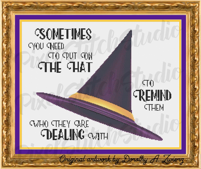 Sometimes You Need To Put The Hat On Witches Hat Purple image 0