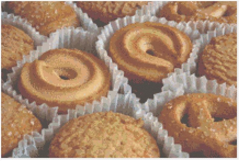 Tray of Fancy Cookies Grandmother's Butter Cookies Fancy image 0