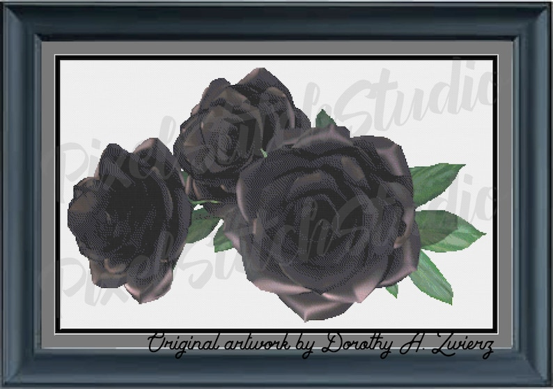 Black Roses Beautiful Halloween Floral Gothic Flowers image 0