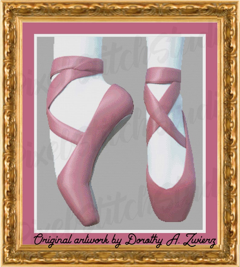 Ballet Slippers Pink Dancing Shoes Up on Your Toes Classic image 0