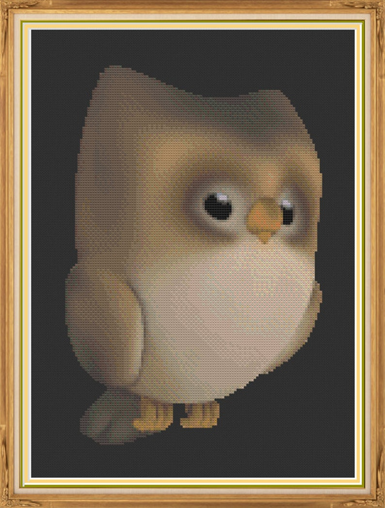 Cute Little Brown Owl Woodland Bird Baby Owl Night Time image 0