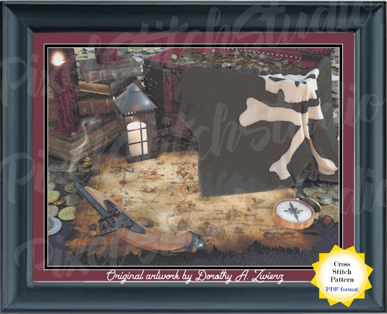 The Pirate's Treasure Counted Cross Stitch Pattern  X image 0