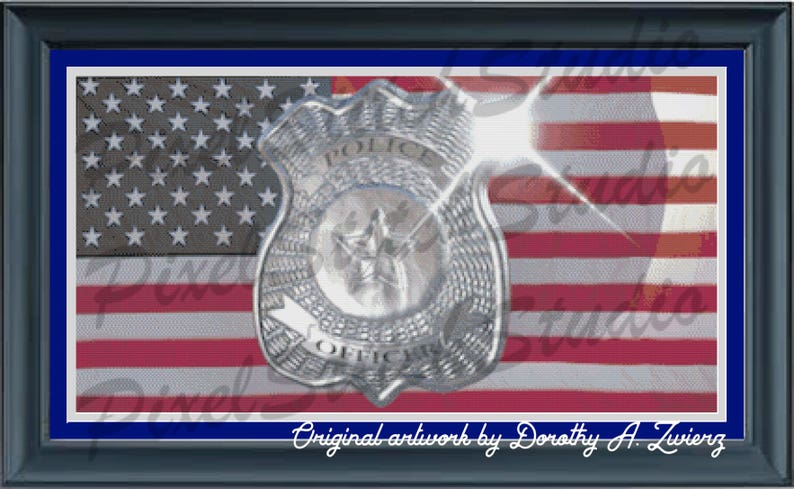 American Hero Police Officer Tribute to Law Enforcement image 0