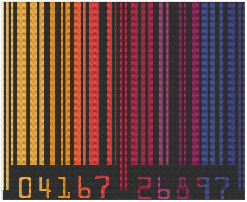 Colorful Barcode Warm Colored Generic Scan Bar Cheerfully image 0