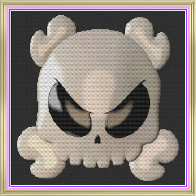 Cute Skull and Crossbones Adorable Goth Skull Pirate Flag image 0