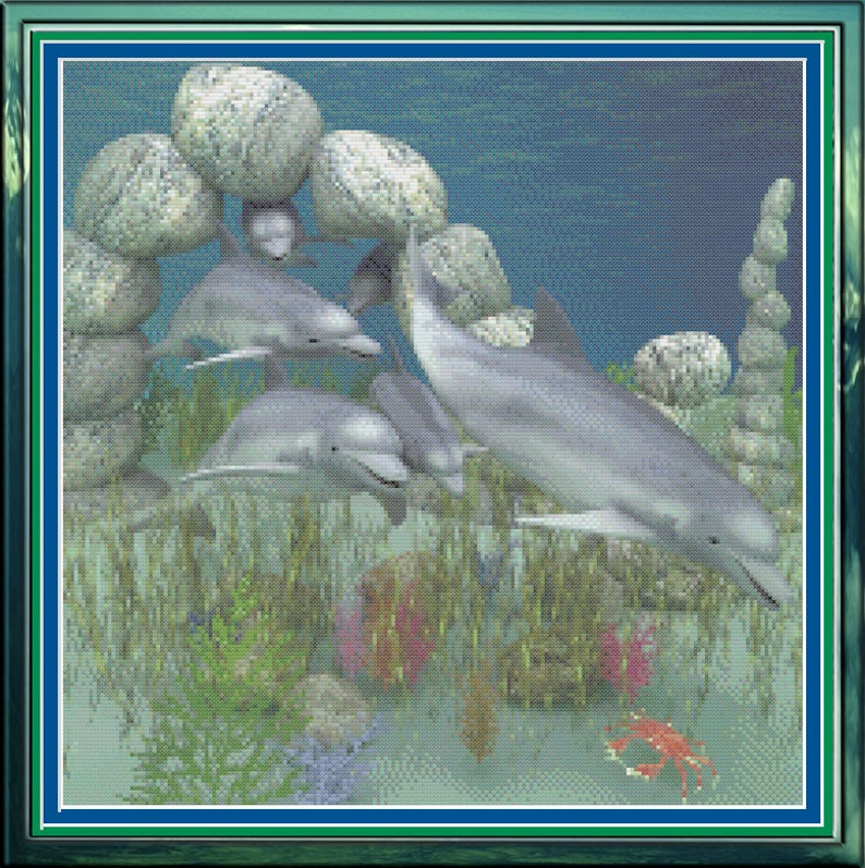 Dolphins Swimming Playful Porpoises Underwater Fun image 0