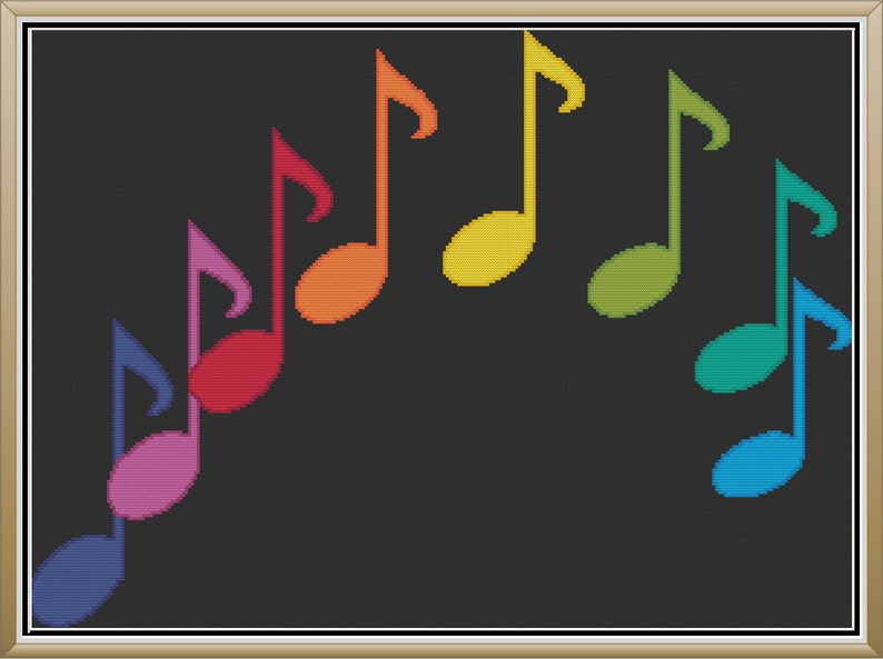 Colorful Musical Note Arch Simple Music Notation Curve Cute image 0