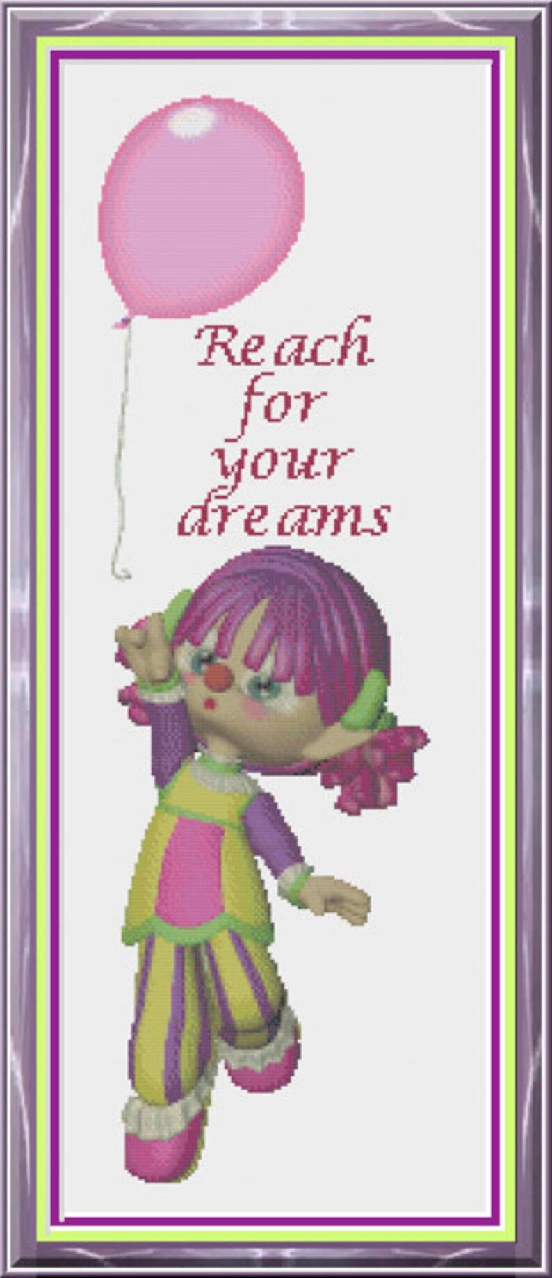 Cute Little Clown Clown Reaching For Balloon Reach for Your image 1
