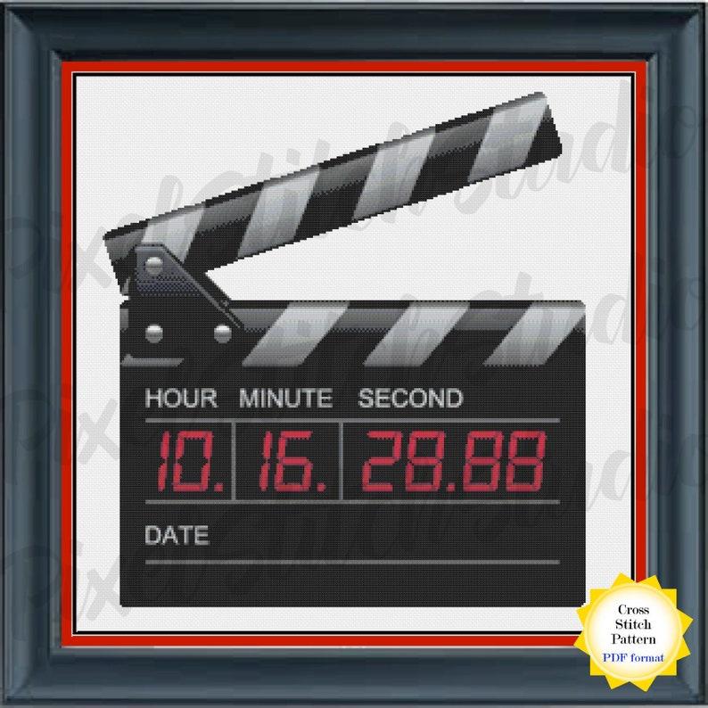Movie Clapboard Cross Stitch Pattern   Film Director's image 0