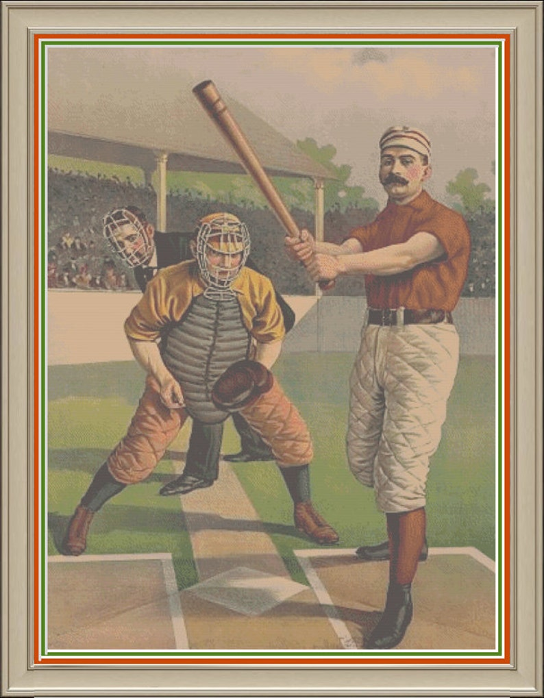Baseball Anyone Batter Catcher and Umpire Scene Home Plate image 0