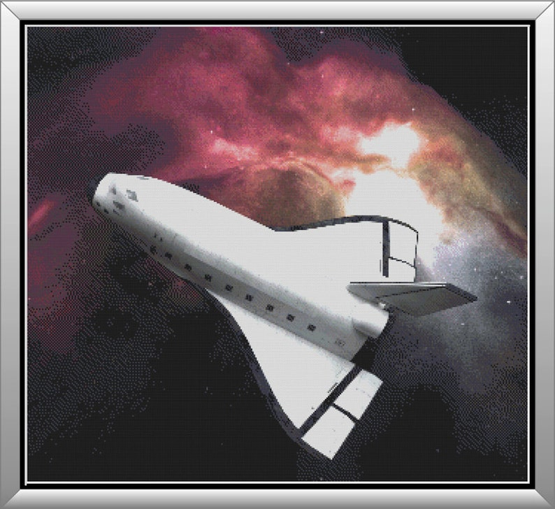 Space Shuttle Exploring the Cosmos Adventures in the image 0