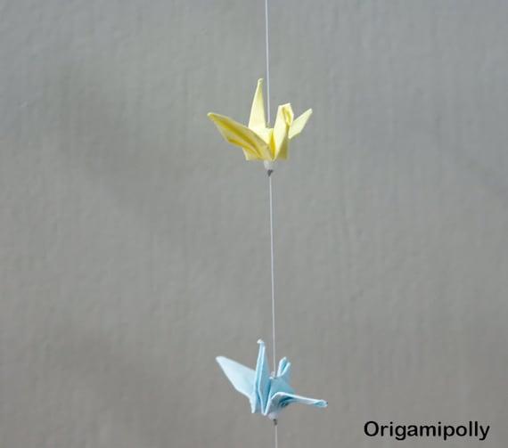 25 Origami Crane String Mix Color Hanging Origami Cranes Etsy