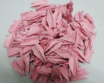 100 Origami paper cranes 3 inch Dark Pink Origami cranes For wedding, anniversaries, birthday,Gift