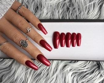 Red Nails Etsy