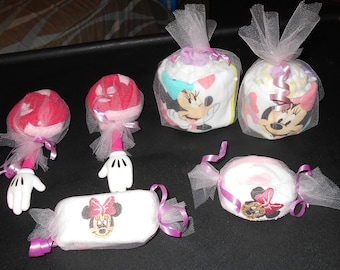 Minnie Mouse Baby Shower Favor Gift Set Of 6 SO CUTE