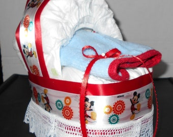 Mickey Mouse Bassinet Diaper Cake