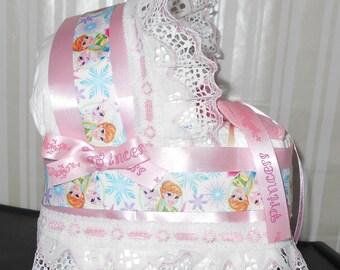 Disney Frozen Bassinet Diaper Cake