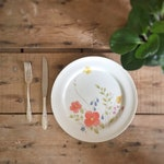 "10"" Dinner Plate, Bone china, Just Flowers by Mikasa Pattern Number A4 -182, Made in Narumi Japan"