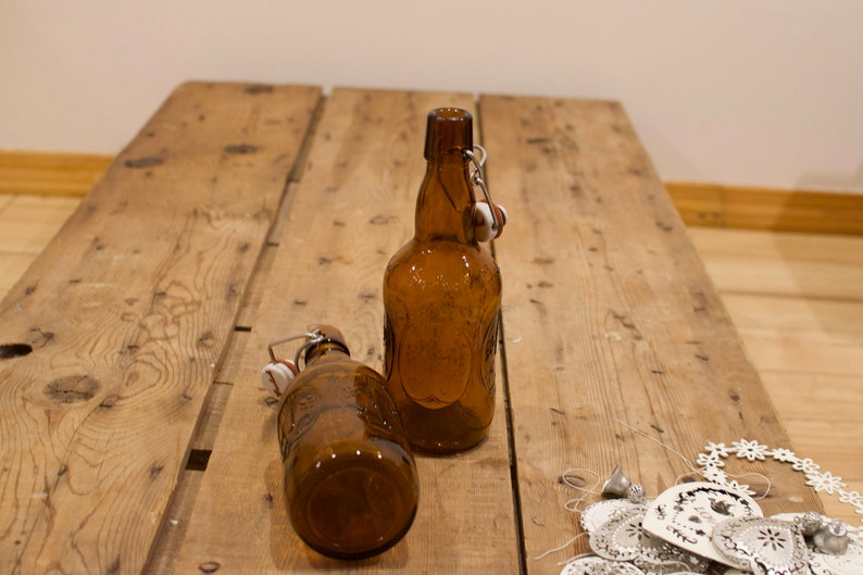 Two Grolsch Beer Bottles Vintage Lager Bottles Home Brew image 0