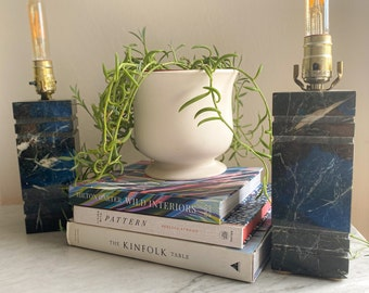 Vintage Green Solid Marble Table Lamps