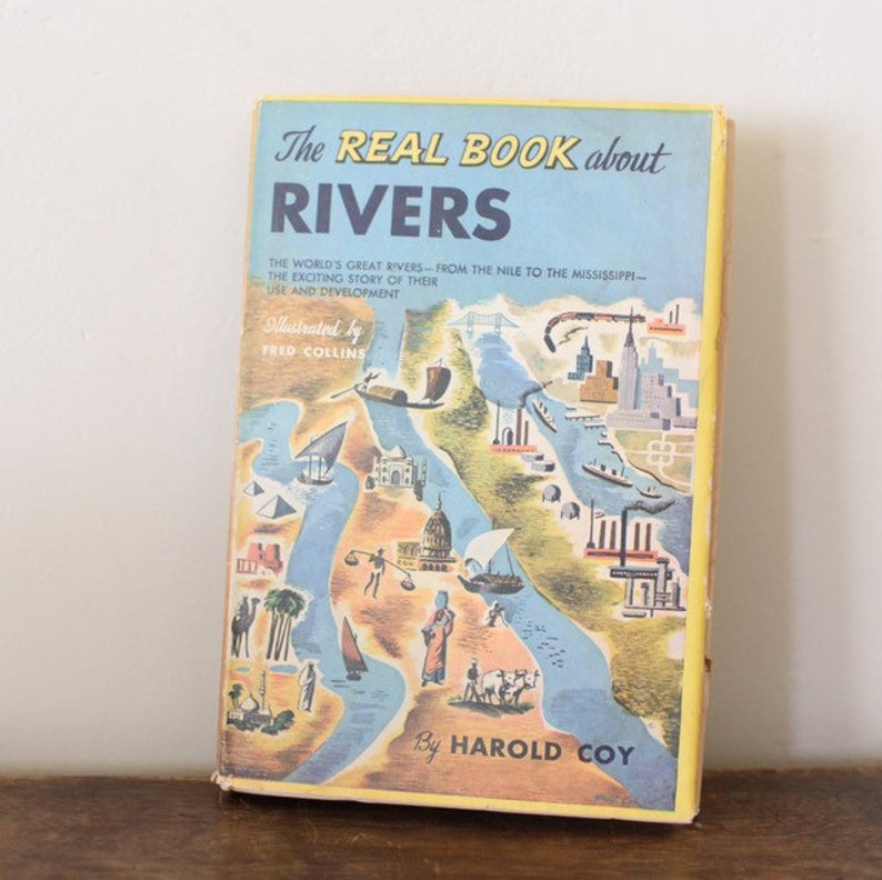 The Real Book about RIVERS by Harold Coy Illustrated image 0