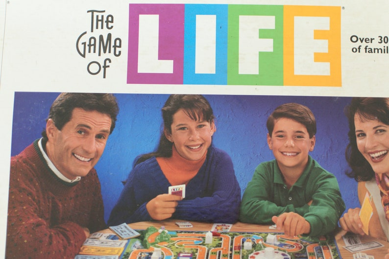 Vintage Game of Life Board Game by Milton Bradley Family image 0