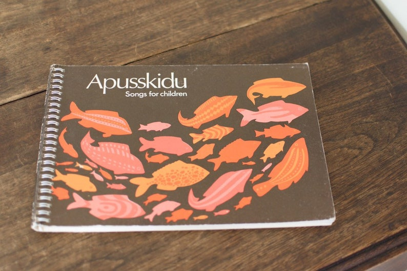 Apusskidu Songs for Children Vintage music ed song book piano image 0
