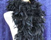 Midnight Black 100 Gram Chandelle Feather Boa 74 Inches Long Dancing Wedding Crafting Party Dress Up Halloween Costume Decoration . 4H31