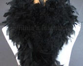 Black 80 Gram Chandelle Feather Boa 6 Feet Long Dancing Wedding Crafting Party Dress Up Halloween Costume Decoration SKU 4I31