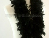 Midnight Black 45 Grams Chandelle Feather Boa 52 Inches Long Dancing Wedding Crafting Party Dress Up Halloween Costume Decoration SKU 8K31