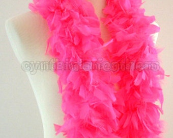 Hot Pink 45 Grams Chandelle Feather Boa 52 Inches Long Dancing Wedding Crafting Party Dress Up Halloween Costume Decoration. SKU: 8L31
