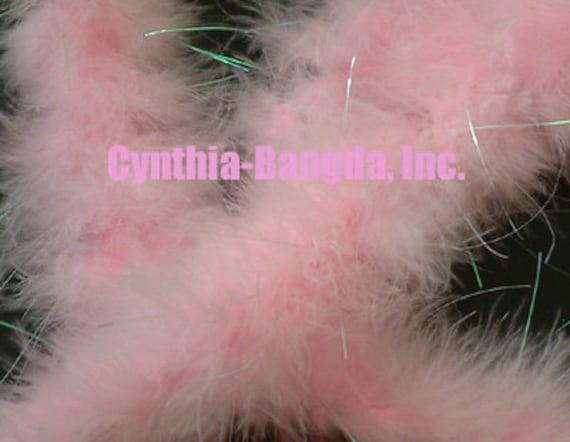 Pink w//Lurex Tinsel 22 Grams Marabou Feather Boa 6 Feet Long Crafting  Trim
