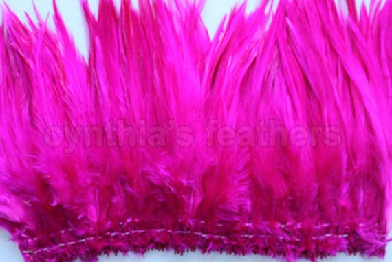 """Bright Red 5-7/"""" saddle COQUE rooster Feathers for crafting 100+ 9g, 0.32Oz"""