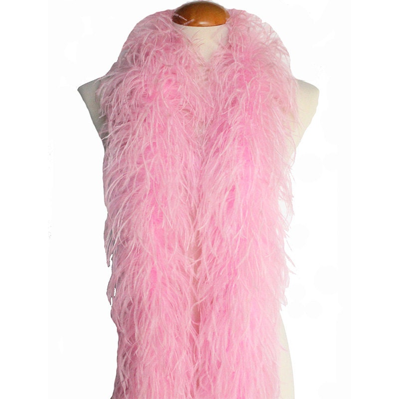 Baby Pink 4 Ply Ostrich Feather Boa Boas Scarf Prom