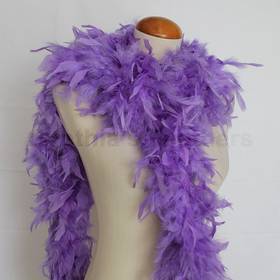 MARABOU FEATHER BOA Halloween//Costume//Mardi-Gras LAVENDER 2 Yards 22 Gram