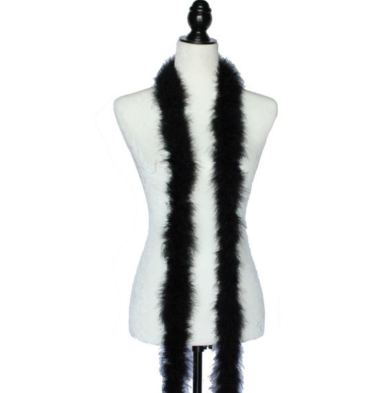 Black Mix 15 Grams Marabou Feather Boa 6 Feet Long Crafting Sewing Trim White