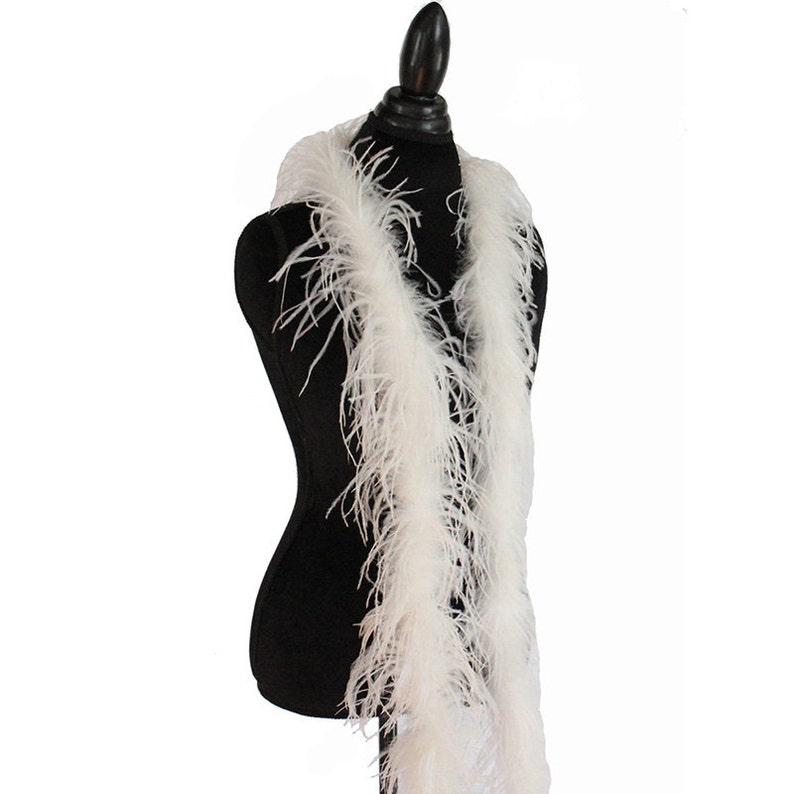 """Halloween Costumes party 72/"""" Long Dancing Black 1 ply Ostrich Feather Boas"""