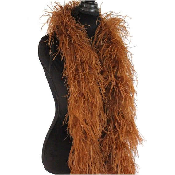Chocolate Brown 3ply Ostrich Feather Boa Scarf Prom Halloween Costumes Dance
