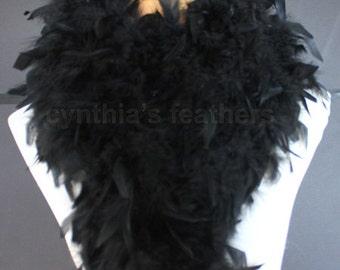 Black 80 Gram Chandelle Feather Boa 6 Feet Long Dancing Wedding Crafting Party Dress Up Halloween Costume Decoration SKU: 4I31