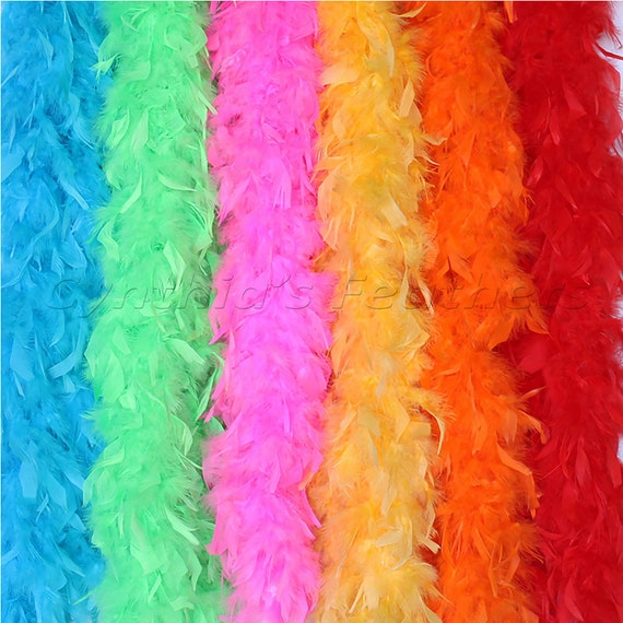 6 Pieces 45 Gram Chandelle Feather Boas Dancing Wedding Crafting Party Dress Up