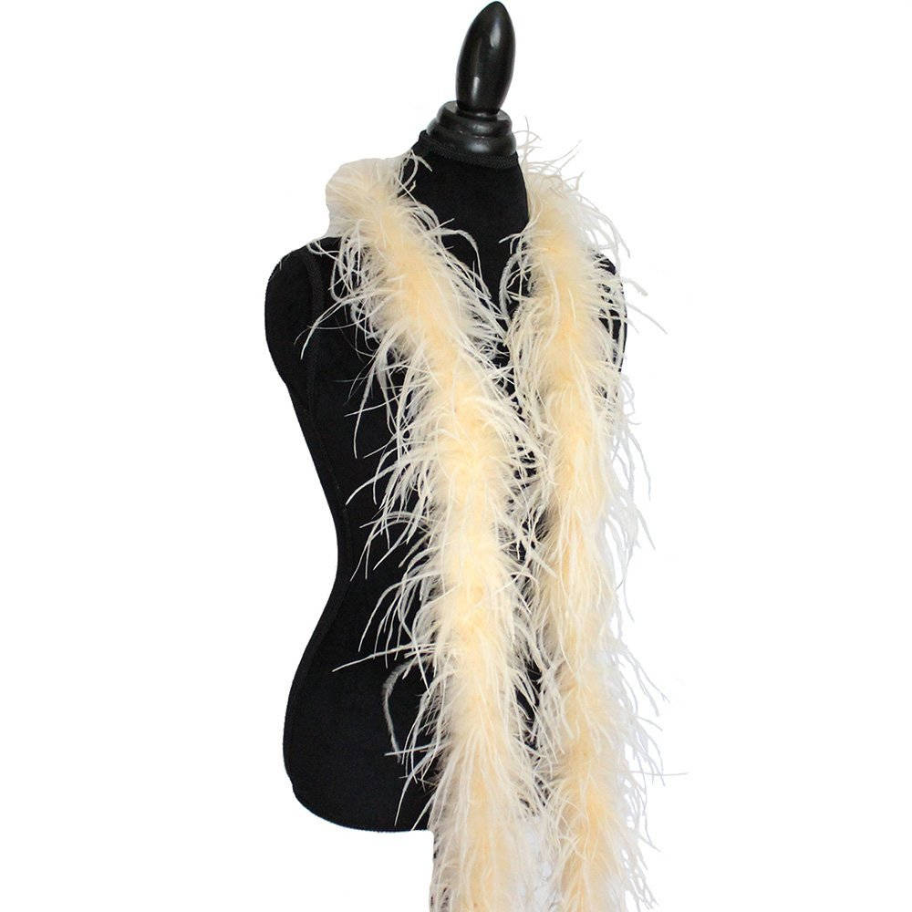 Light Blue 2ply Ostrich Feather Boa Scarf Prom Halloween Costumes Dance Decor