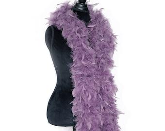 Dusty Purple 80 Gram Chandelle Feather Boa 6 Feet Long Dancing Wedding Crafting Party Dress Up Halloween Costume Decoration. SKU: 5J22