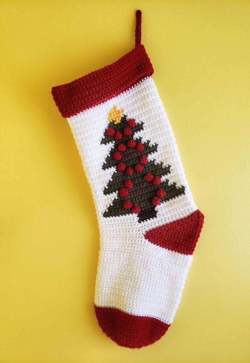 Huge Christmas Tree Stocking Original Crochet Design By Divine image 0