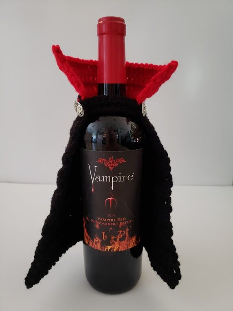 Vampire Wine Bottle Crochet Cape image 0
