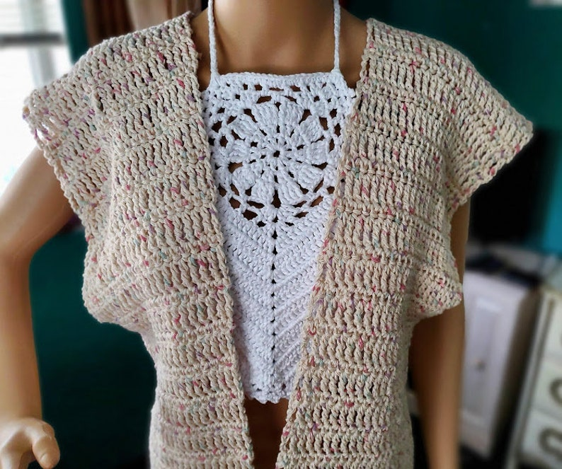 Wendy Cardigan Crochet Top by Divine Debris image 0