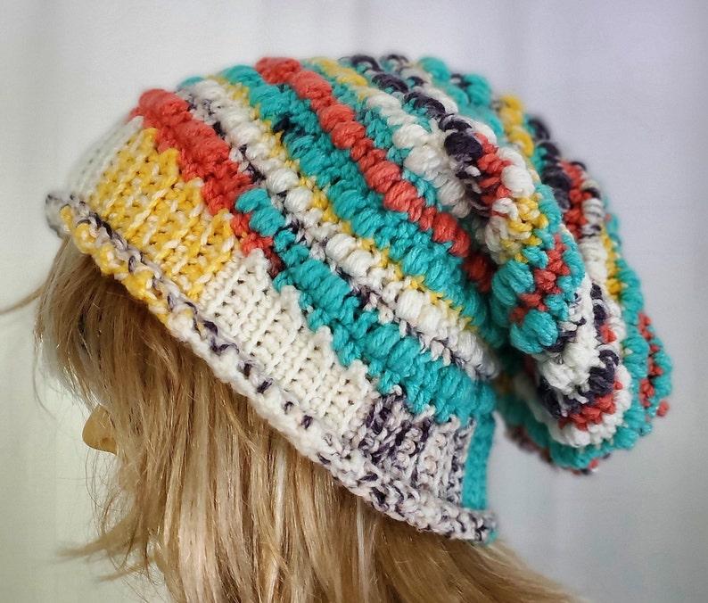 Ainsley Beanie Crochet Slouchy Beanie Fall Winter Cap Hat image 0